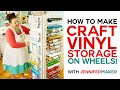 DIY Craft Vinyl Storage Organizer Tower (So Easy!)