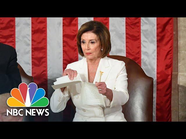 Watch Nancy Pelosi Rip Up Copy Of President Donald Trump's State Of The Union Speech   NBC News