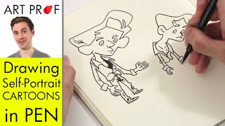 How to Draw a Cartoon of Yourself with a Felt Tip Pen