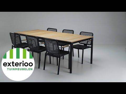 Fano armstoel zwart - aluminium- stapelbaar