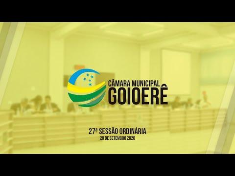 27ª Sessão Ordinária | 2020