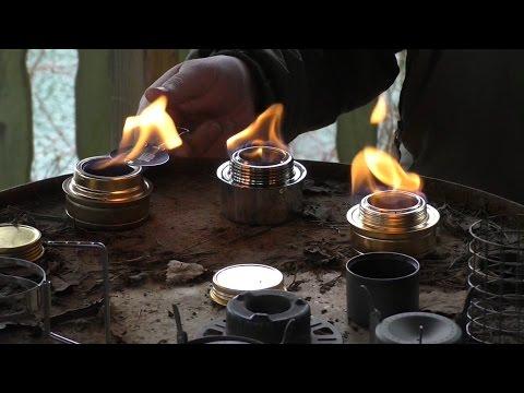 Spirituskocher im Vergleich (Test Tatonka, Trangia, Esbit, Toaks und Vargo)
