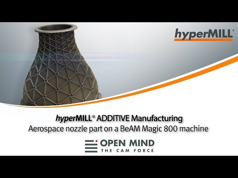 hyperMILL ADDITIVE Manufacturing: Aerospace Nozzle | hyperMILL | BeAM | CAM-Software