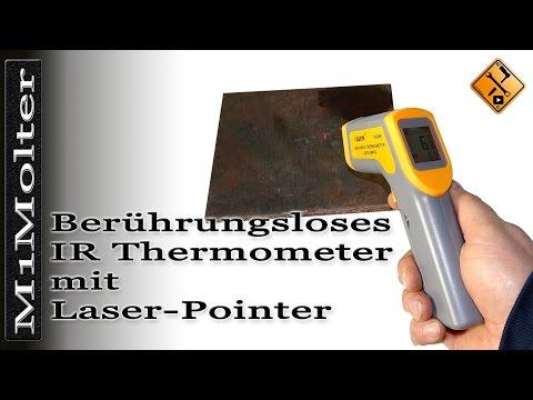 Günstiges berührungsloses IR Thermometer für Hobbybereich mit Laser Pointer