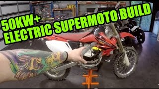 50KW ELECTRIC SUPERMOTO MX BIKE BUILD [EP 1]  WILL IT WORK?