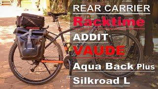 Rear Bicycle Rack System - Racktime Addit & Vaude Aqua Plus & Silkroad L