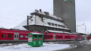 preview picture of video 'Bahnübergang Neresheimer Straße, Bopfingen ++ BÜS72-Anlage mit doppeltem Pfeil'