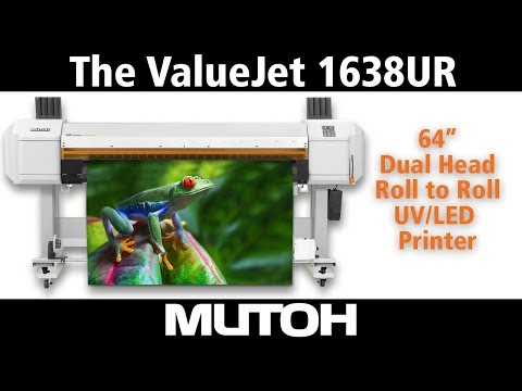 "The ValueJet 1638UR 64"" dual head roll to roll UV LED Printer"