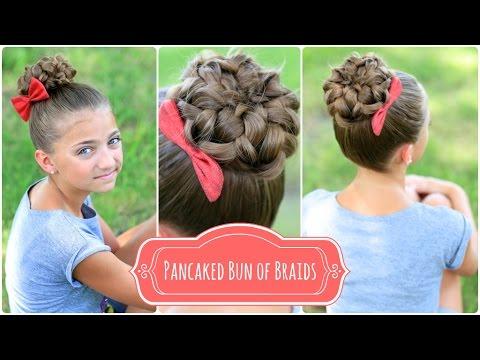 Pancaked Bun of Braids | Cute Girls Hairstyles