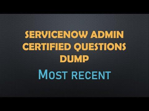 #ServiceNow Admin Certified latest Dump Set 2|CSA| Most ...