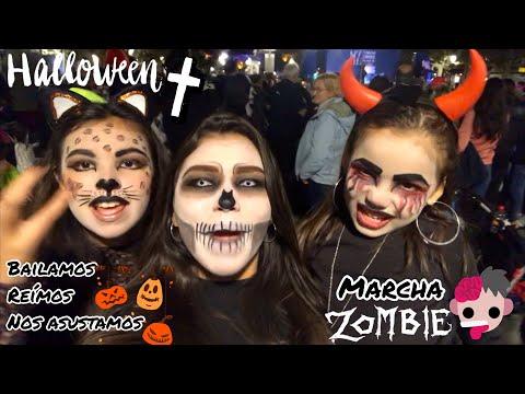 Cómo es el HALLOWEEN en España | Bailamos nos asustamos y reímos Marcha Zombie Concurso de Disfraz