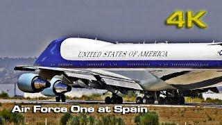 Air Force One in Spain! [4K]