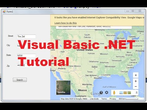 Visual Basic .NET Tutorial 52 – How to Display Google Maps in VB.NET