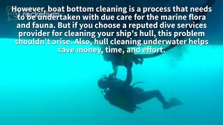 Why You Should Hire Professionals for Hull Cleaning