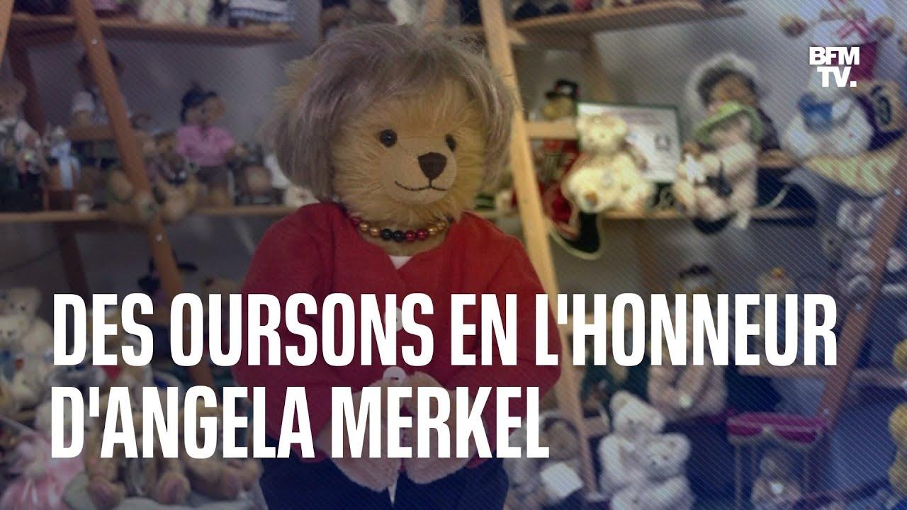 Un ours en peluche à l'effigie d'Angela Merkel créé pour lui rendre hommage