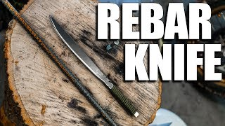 Forging a Knife from Rebar | My first Knife