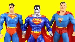 Huge Superman Collection With POP Big Figs And Hot Wheels Superman Toys