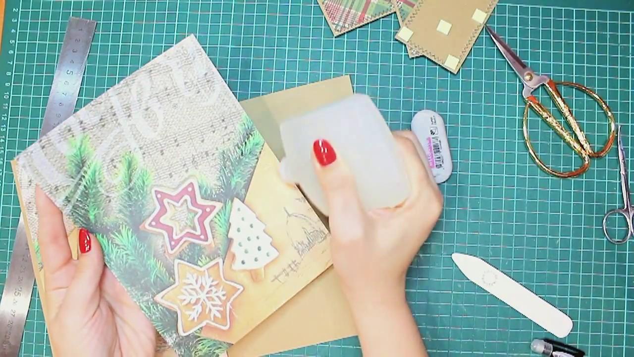День рождение, мастер класс скрапбукинг открытка новогодняя