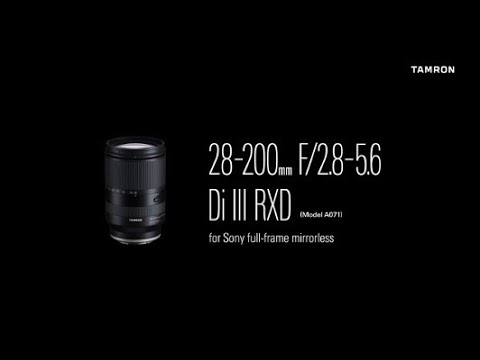 Tamron AF 28-200mm f/2.8-5.6 Di III RXD, Sony E