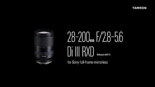 YouTube Video Ty_T7kJ-rYA for Product Tamron 28-200mm F/2.8-5.6 Di III RXD Lens (A071) by Company Tamron in Industry Lenses