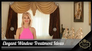 Elegant Window Treatments Ideas | Beautiful Homes | Custom Drapes | Galaxy Design Video #215