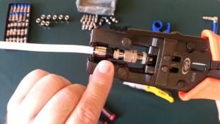 Como Instalar Conectores A Un Cable Coaxial Para Tv Y Extender El Cable