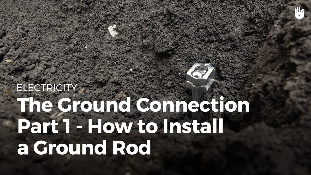 ground connection how to install a ground rod. Black Bedroom Furniture Sets. Home Design Ideas