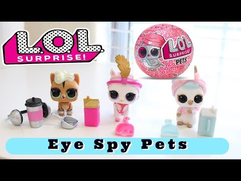 NEW LOL SURPRISE PETS EYE SPY SERIES 4 UNBOXING