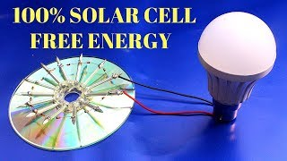 Solar Cell Free Energy ! 100% Free Energy solar Cell Device - Make Solar Cell From CD Flat