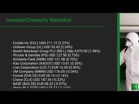 InvestorChannel's Disinfection Watchlist Update for Tuesday, February, 23, 2021, 16:00 EST