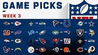 Week 3 NFL Game Picks!