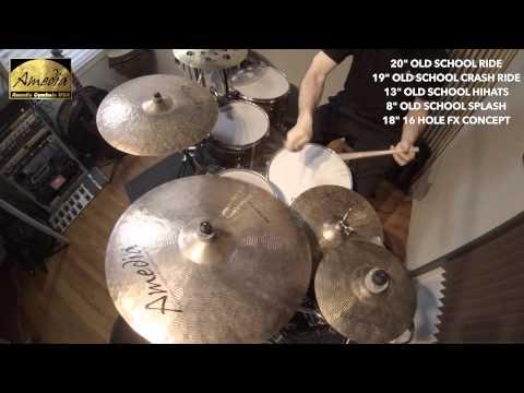 Amedia Cymbals USA Old School Series Jazz Demo