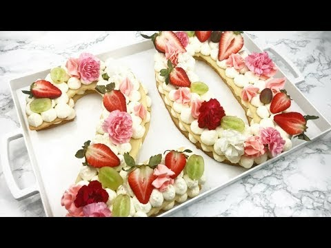 How To Make An Alphabet/Number Tart- Cake Trend | RECIPE