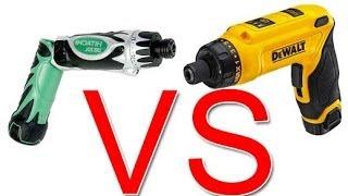 Review DeWalt DCF680 VS Hitachi DB3DL Cordless Screwdrivers