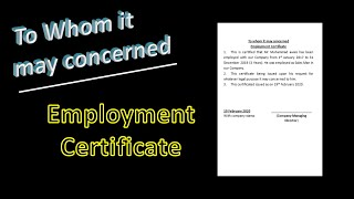 How to type employment certificate in MS word file | To whom it may concerned