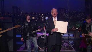 Arctic Monkeys - Don't Sit Down Cause I've Moved Your Chair - HD - Letterman