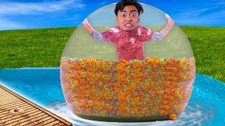 I Put 10 Million Orbeez in a BUBBLE BALL
