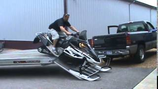 Aluma 8624 Snowmobile Trailer Drive-Off