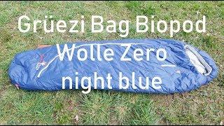 Grüezi Bag Biopod Wolle Zero night blue Schlafsack