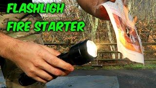Flashlight Fire Starter