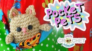 Crochet Cat Pattern & Tutorial - Jaydas Pocket Pets