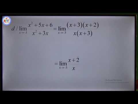Toán 11 - Giới hạn hàm số (P4)