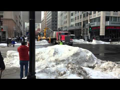 Watch This Snow Blower Tractor Monster Eat And Spit Out Snow