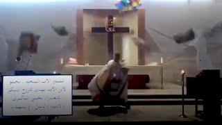 video: Watch: Beirut Priest flees for cover as debris falls during mass