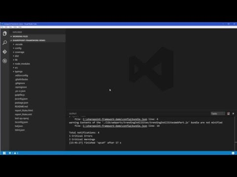 Run SPCAF analysis of SharePoint Framework project from Visual Studio Code