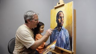 Daddy-Daughter Painting 20 Portraits Together - Baby To 5-Years-Old