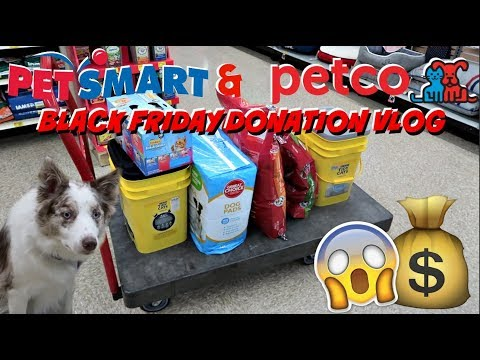 BLACK FRIDAY PET DONATION SHOPPING VLOG | PETCO AND PETSMART | $250 HAUL