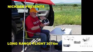 FPV LONG RANGE FLIGHT 3074m FIMI X8 SE FOLDABLE DRONE DU RECORDER