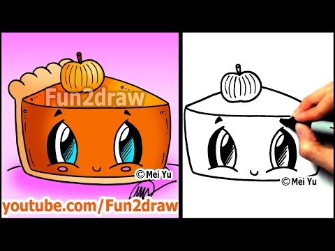 Fun2draw pumpkin pie fun2draw stars by the funny drawers for Fun and easy pictures to draw