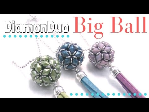 How to make a DiamonDuo Ball - Full tutorial with pattern Beading Ideas